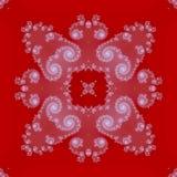 Zacht abstract wit ornament op rode achtergrond vector illustratie