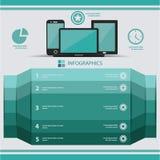 Zacht Blauw concept, Modern Ontwerpmalplaatje, Retro stijl Stock Afbeeldingen