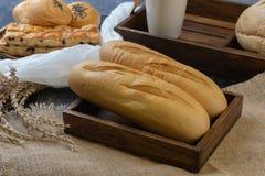 Zacht Frans baguettebrood stock afbeeldingen