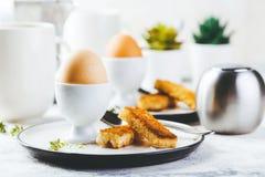 Zacht gekookt ei voor ontbijt royalty-vrije stock fotografie