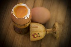 Zacht-gekookte Eieren Stock Fotografie