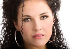 Zacht gezicht van een jonge vrouw Royalty-vrije Stock Foto's