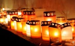Zacht licht van kaarsen royalty-vrije stock afbeeldingen