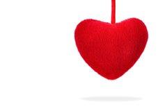 Zacht rood hart Stock Afbeelding