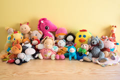 Zacht speelgoed stock foto