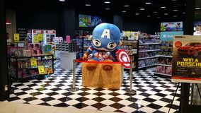 Zacht stuk speelgoed kapitein Amerika royalty-vrije stock foto