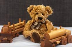 Zacht Stuk speelgoed Teddy Stock Fotografie