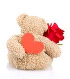 Zacht stuk speelgoed voor de dag van de Valentijnskaart Royalty-vrije Stock Afbeelding