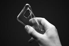 Zacht telefoon plastic geval Stock Afbeelding