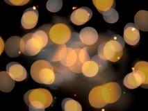 Zacht vaag effect om gouden oranje het fonkelen vage lichten royalty-vrije stock afbeelding