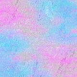 Zachte blauwe en roze abstracte achtergrond stock illustratie