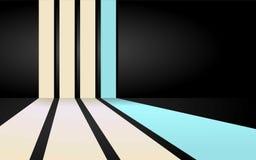Zachte blauwe strepenachtergrond Vector Illustratie