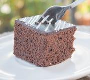 Zachte chocoladecake Royalty-vrije Stock Fotografie