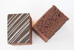 Zachte chocoladecake Stock Afbeeldingen