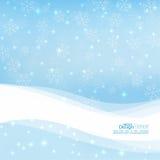 Zachte de winter abstracte achtergrond vector illustratie