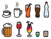 Zachte en hete drankeninzameling de van de alcohol, Royalty-vrije Illustratie