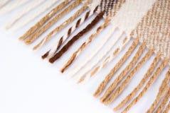 Zachte en warme gevouwen wolplaid Stock Foto