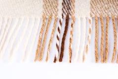 Zachte en warme gevouwen wolplaid Royalty-vrije Stock Foto
