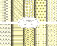 Zachte gele en bruine patronen Stock Afbeelding