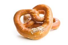 Zachte gezouten pretzel stock fotografie