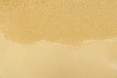 Zachte Golf op het Strand Zomer op lege tropische strandwi Stock Afbeelding