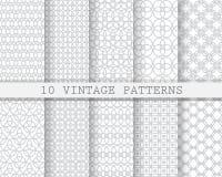 10 zachte grijze patronen Royalty-vrije Stock Afbeelding