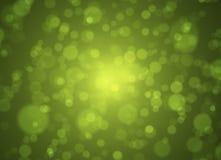 Zachte groene en gouden bokehachtergrond Abstract de lenteconcept Stock Fotografie