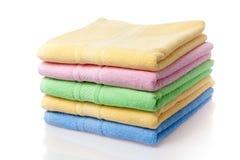 Zachte handdoeken Stock Afbeelding