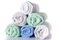 Zachte handdoeken Stock Foto