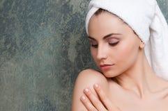 Zachte huid en schoonheid Stock Foto