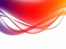 Zachte kleurrijke Gebogen Abstracte Achtergrond Royalty-vrije Stock Foto