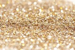 Zachte lichten zilveren en gouden achtergrond Royalty-vrije Stock Afbeeldingen