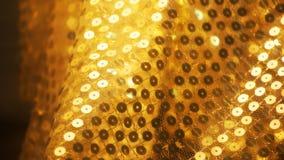 Zachte nadruk gouden doek Stock Fotografie