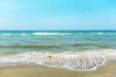 Zachte nadruk op Overzees en het strand Royalty-vrije Stock Afbeelding