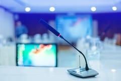 Zachte nadruk van draadloze Conferentiemicrofoons Stock Foto's