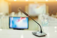 Zachte nadruk van draadloze Conferentiemicrofoons Royalty-vrije Stock Foto's