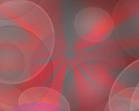 Zachte nadrukcirkels op rode achtergrond Royalty-vrije Stock Foto's