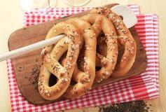 Zachte pretzels Royalty-vrije Stock Foto's