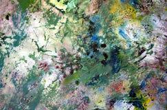 Zachte purpere geelgroene uitstekende kleuren, verfachtergrond, tinten, de achtergrond van de waterverfverf royalty-vrije illustratie