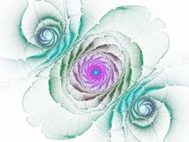 Zachte regenboogfractal bloem royalty-vrije illustratie