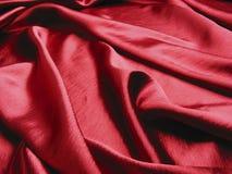 Zachte rode satijnachtergrond Royalty-vrije Stock Foto