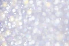 Zachte Schitterende Lichte Abstracte Achtergrond Stock Fotografie