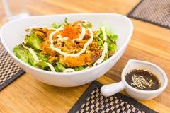 Zachte shell krabsalade in Japanse stijl Royalty-vrije Stock Foto's