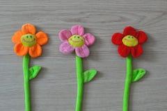 Zachte speelgoedbloemen Royalty-vrije Stock Foto