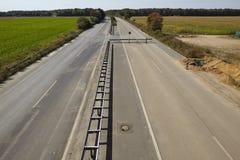 Zachte steenkool - vroeger Autobahn A4 dichtbij kerpen-Buir Stock Foto