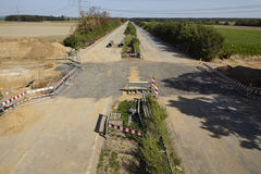 Zachte steenkool - vroeger Autobahn A4 dichtbij kerpen-Buir Royalty-vrije Stock Foto