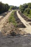 Zachte steenkool - vroeger Autobahn A4 dichtbij Merzenich Royalty-vrije Stock Afbeeldingen