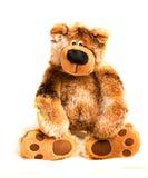 Zachte stuk speelgoed bruine teddybeer Stock Foto