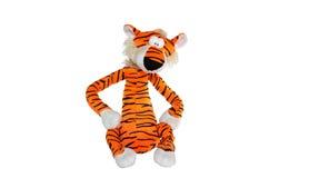 Zachte stuk speelgoed tijger Stock Afbeeldingen