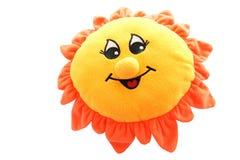 Zachte stuk speelgoed zon stock afbeelding